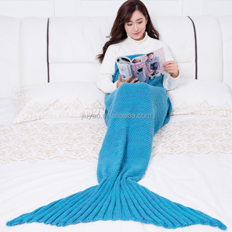 Top Sale Adult Child Mermaid Tail Knitted Blanket