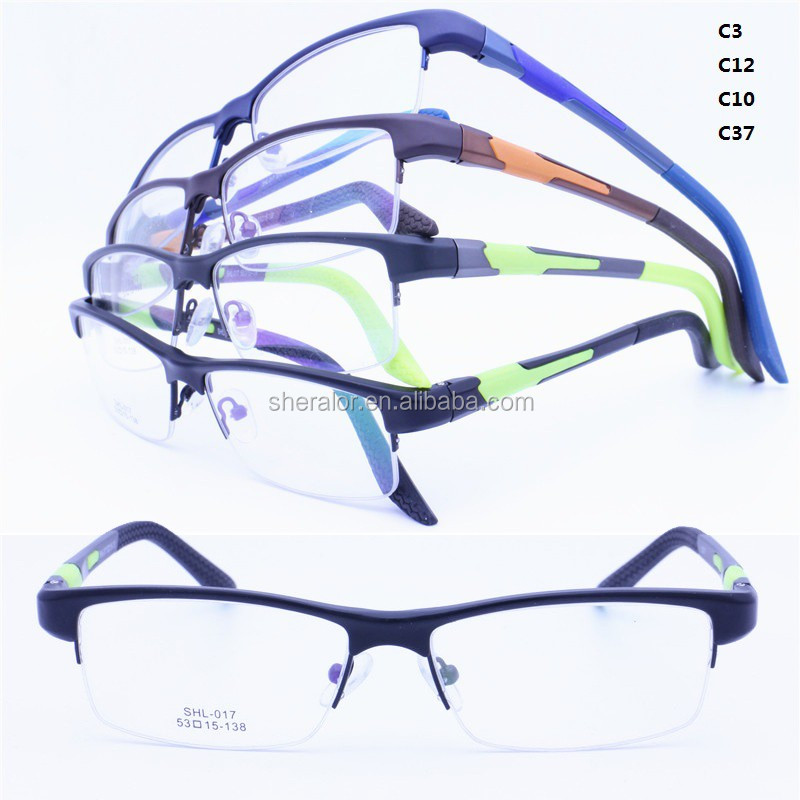 wholesales TR90 cobine <strong>steel</strong> from rim built-in flexi hinge aluminum side arm optical glasses frames SHL017