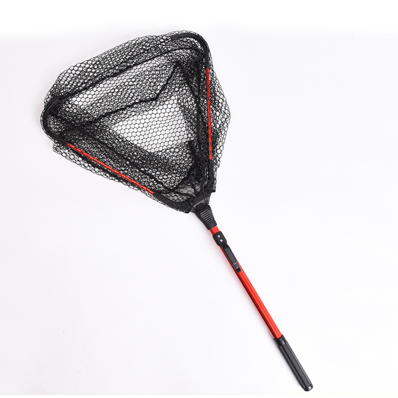 Fly Fishing Net Telescoping Foldable Landing Net Pole Casting Network Trap Fishing Nets Fishing accessories