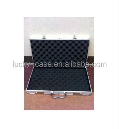 New Gun Rifle Firearm Aluminum Case Safe Double Lock