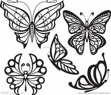 Non-toxic Removable Fake Tats Black Wings Temporary Tribal Butterflies Tattoo