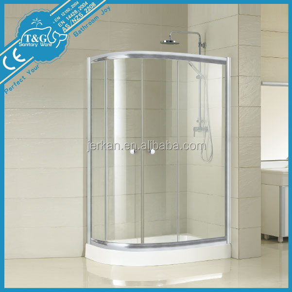 China new design popular glass doors for bathrooms