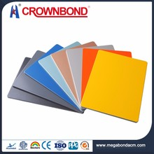 Crownbond Flexible Price outdoor sign board material /aluminum cladding /acp
