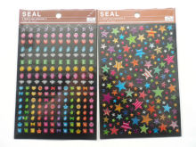 christal sticker dot and number epoxy sticker