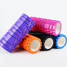 body balance exercise fitness yoga pilates hollow foam roller pillar with massage dot