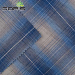 Mercerized cotton fabric 100% cotton yarn dyed blue white stripe fabric for T-shirt