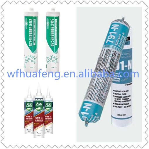 weifang Acid silicone sealant weatherproof silicone sealant 280 ml weifang