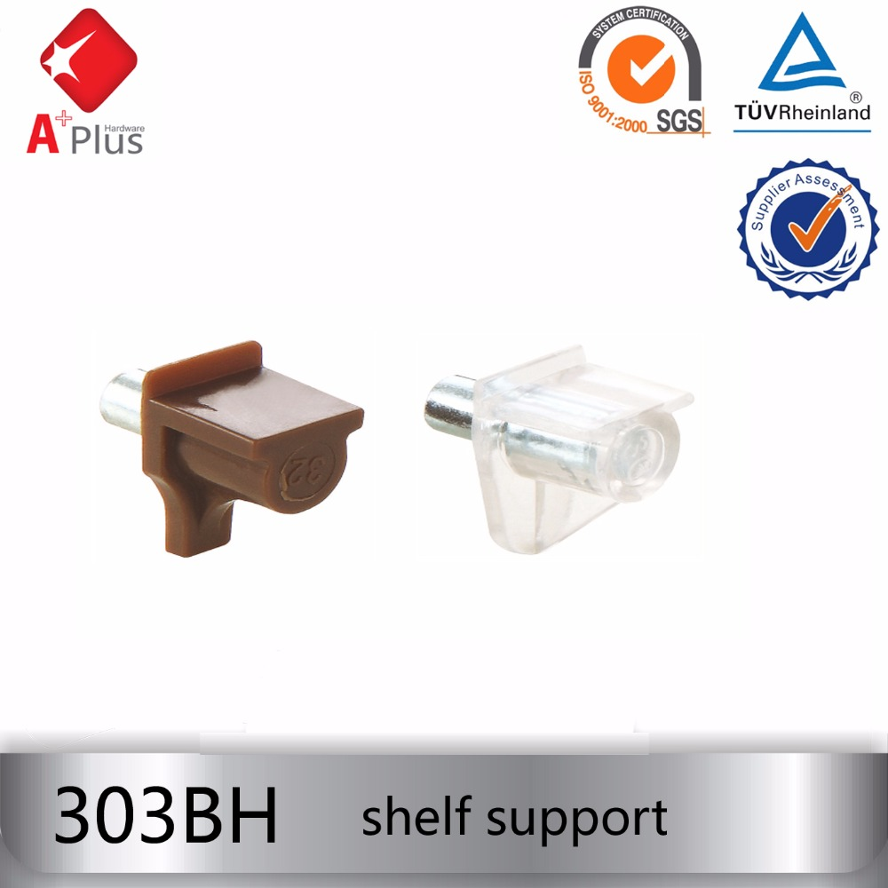 303BH invisible plastic cabinet shelf support pins