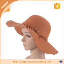 2015 Ladies Wide Brim Fake Wool Felt Floppy Hat