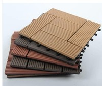INdoor/outdoor flooring 300x300mm wpc decking tiles wood plastic composite decking board