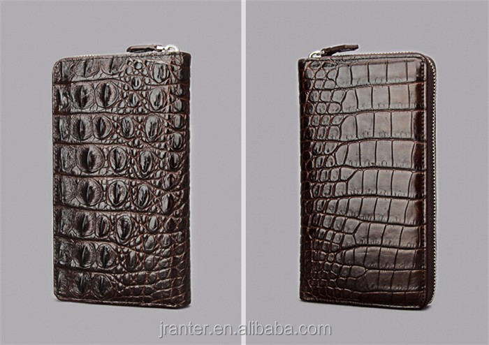 Fashion Luxury Handmade Men Business Wallet Real Crocodile leather Clutch Wallet Men_10