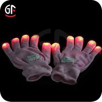 Hot New Products 2015 Battery Time Glow Gloves Led Long