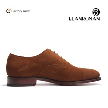 Factory direct high quality brown dress shoe leather dress shoes Oxfords shoes