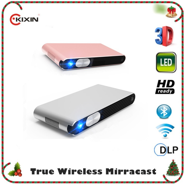 2016 Mini projector for smartphones full HD 3D WIFI HDMI USB VGA mini pocket projector LED projector proyector