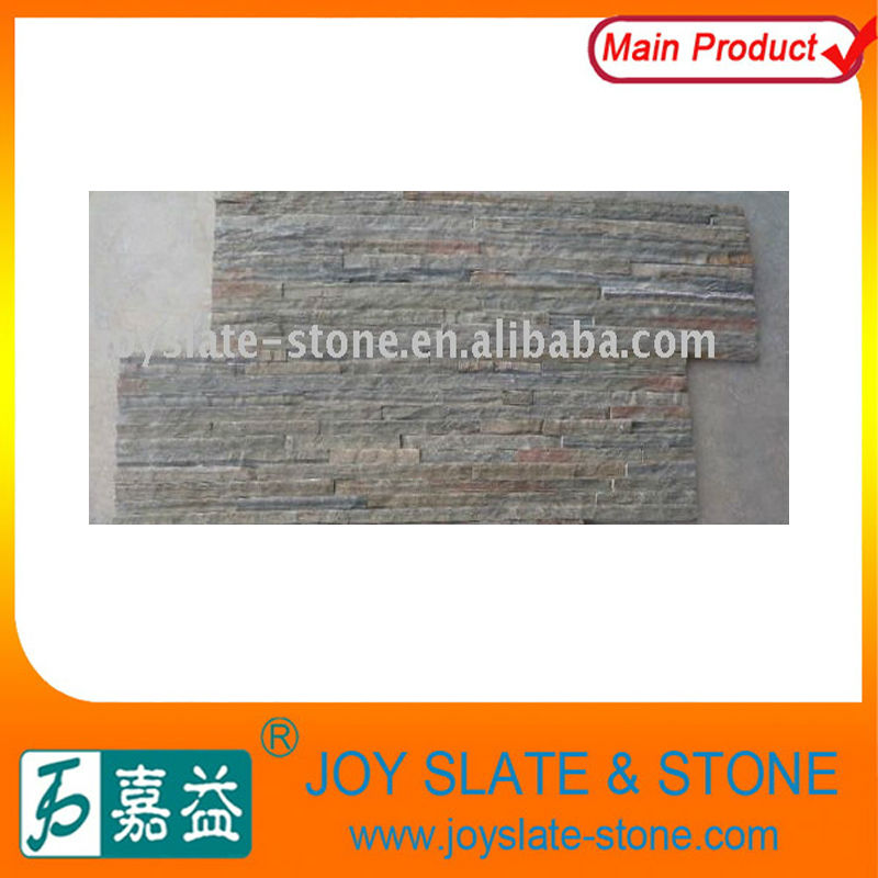 Natural Slate Rusty Decorative Stone Wall Panels/cheap decorative stone veneer tile