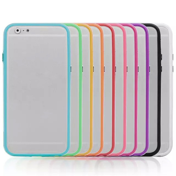 For Apple iPhone 6 Colorful TPU Rubber Soft Bumper