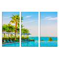 Tropical Scenery with Palm Trees Modern Canvas Painting The Picture Print on Canvas 3 Panels for Wall Decor