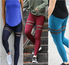 New design faux leather leggings mesh splicing hot sexy girls customize yoga pants women sports leggings