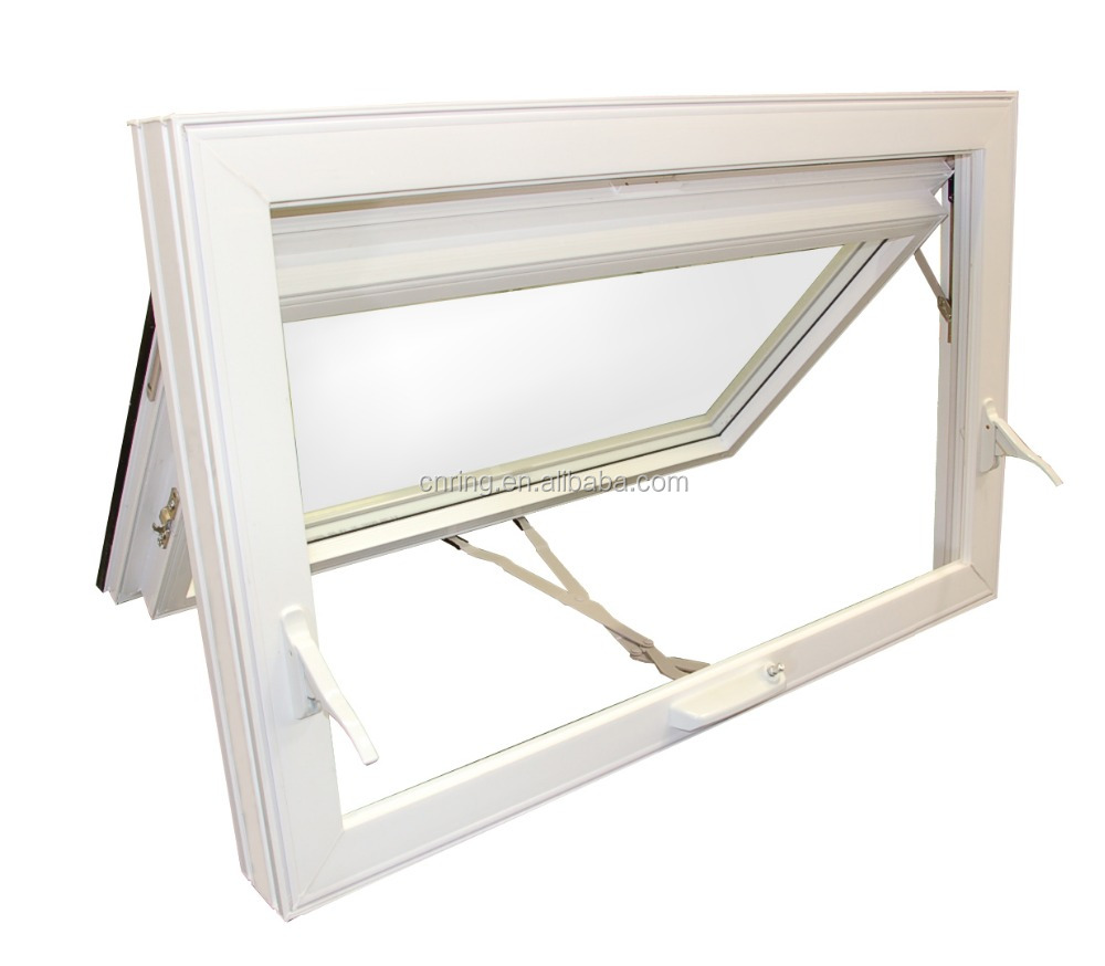 guangzhou aluminum windows rain protection in window top hinge glazed aluminum profile window