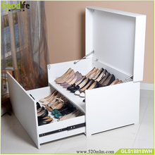 New design wood drop front shoe box for saudi arabia