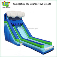 2015 long inflatable wave pool slide for hot sale