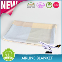 2017 Jacquard woven airline blanket in soil color Blanket with 100% modacrylic material