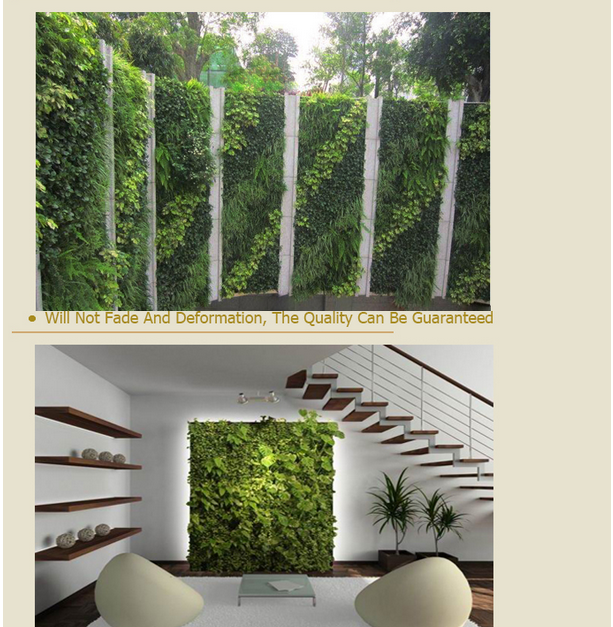 Cheap plastic artificial leaf wall garden green wall buy for Cheap vertical garden