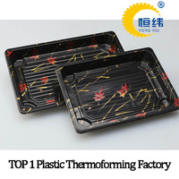 Black PS plastic food compartment tray made in china