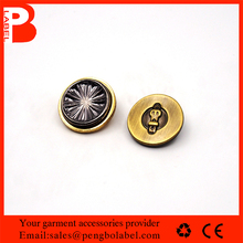 Gold Copper Buttons Nickel Plating Metal Tack Buttons for Jeans, Jackets, T-shirts