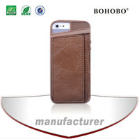 Wholesale fashional tpu leather back soft cover case with card holder For iPhone 5 5g 5S