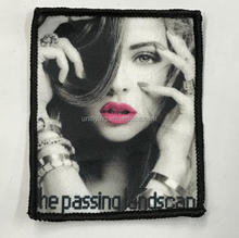 Wholesale Fashion Lady Logo Embroidered Printed Custom Silk Screen Patches