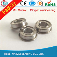 F625 5*16*5 hot seller Water Resistant flange bearing/v groove