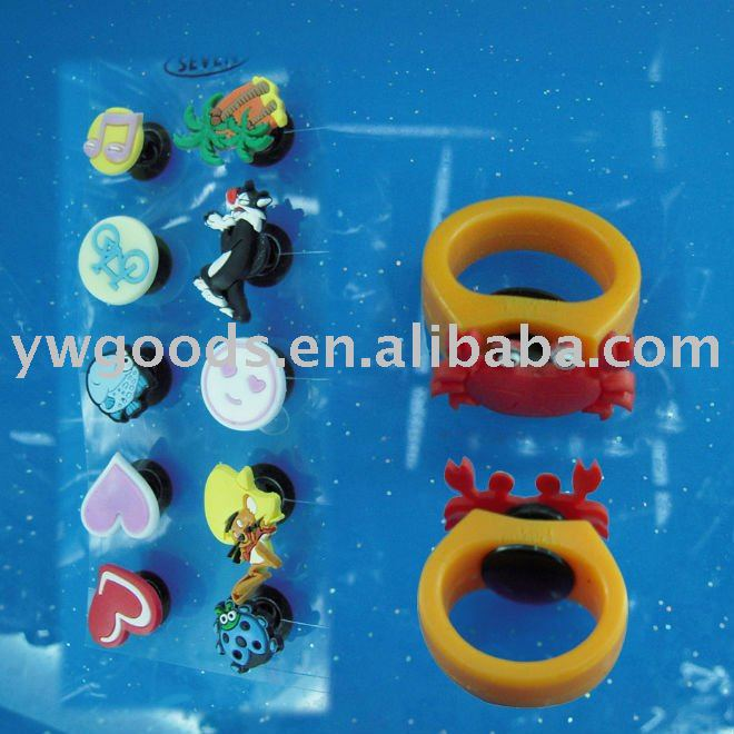 Kid's Soft PVC Finger Rings