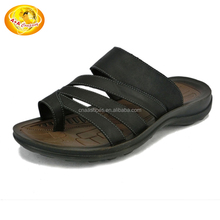High quality summer plush slipper waterproof men pu slipper for gentleman