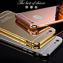 Back cover for iphone 6 case metal mirror gold, smartphone for iphone 6 case metal aluminium bumper