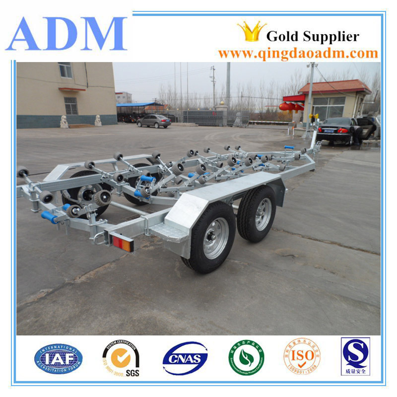 China wholesale heavy duty long boat trailers