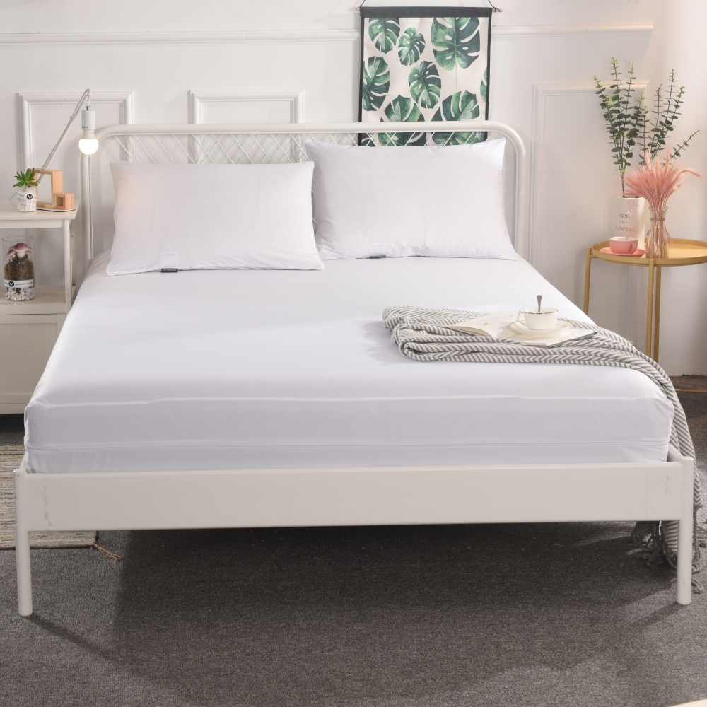 Anti-mite white hotel waterproof bed sheets Mattress cover encasement - Jozy Mattress | Jozy.net
