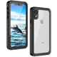 For iPhone Xr Cell Phone Case, Heavy Duty Shockproof Armor Cover IP68 Waterproof Phone Case for iPhone Xr