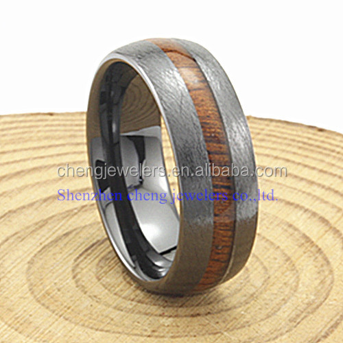 Shenzhen jewelry cross brushed wood ring blank secret wood ring in CERAMIC RING