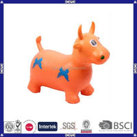 Bulk cow shaped plastic hopper toy horse