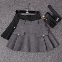 Newest style Crazy Selling satin lady's mini skirt