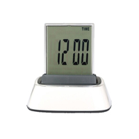 Digital LED 7 Color Change Mini Alarm Clock with LCD Calendar Function