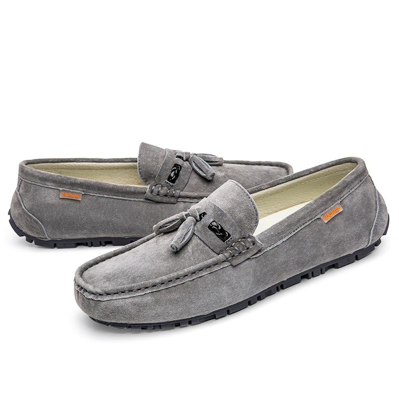 Fashion comfortable wholesale factory men casual shoes cow suede leather loafer shoes soft leather driving shoes
