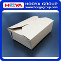 Disposable brown kraft paper food packing box,can printing LOGO