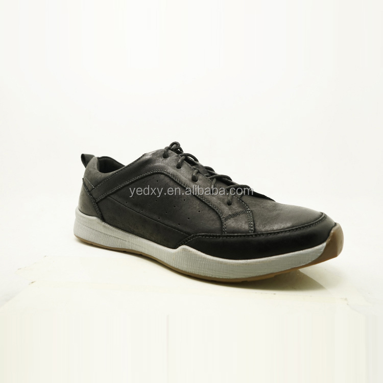 black color fast speed mens genuine leather max sports shoes