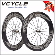 China 88mm Depth 23mm Width Clincher Road Bike Carbon Wheelset 700c
