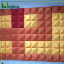 Economic and Efficient 3d acoustic panels wall decor panels 3d polyester fiber pet board with resin hardened edges