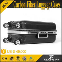 2015 Luxury 100% Real Carbon Fibre Luggage Trolley Bag for Travel 24' with 4 Wheels