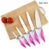 colorful handle 5pcs royalty line forged stainless steel kitchen knife set