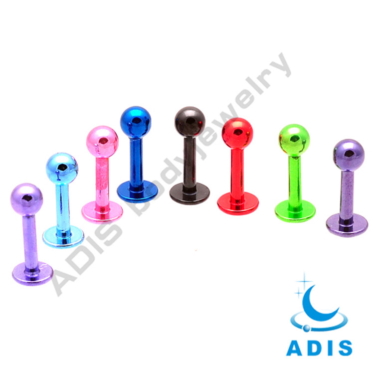 surgical steel anodized cheap wholesale piercing magnetic free lip rings
